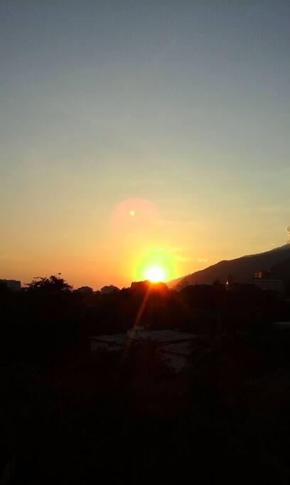 evryday sunrise breakfast from the balcony