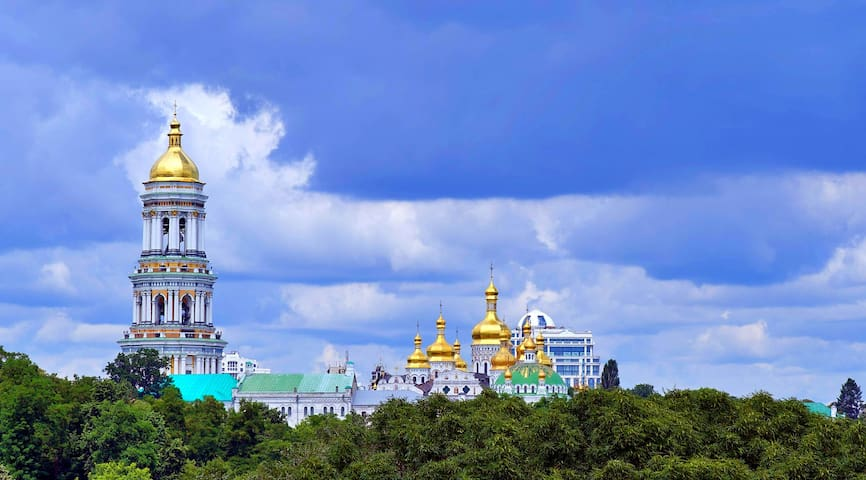 ❤️Cozy Studio in the center⌘View of the Lavra❤️