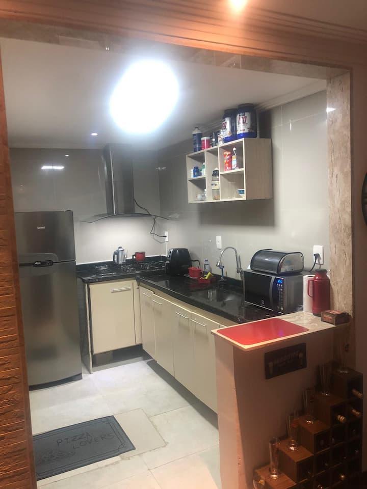 Linda casa apartamento térreo com garagem