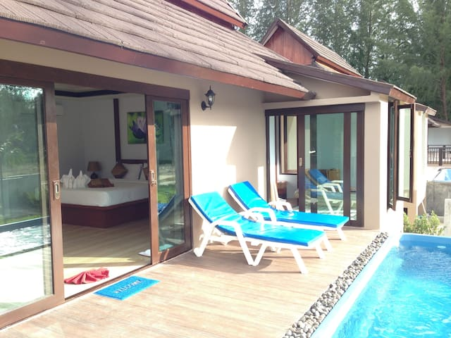 Pool Villa in Private Beach Resort - TH - Vila
