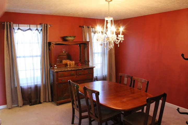 Formal Dining Room.  This room has hardwood flooring now, unlike in the picture.