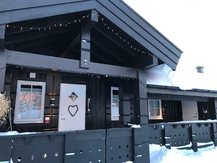Large Beautiful Cabin Ski in/out on Sjusjøen