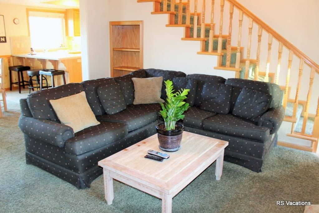Comfortable Seating, Fireplace, Flat Screen and More
