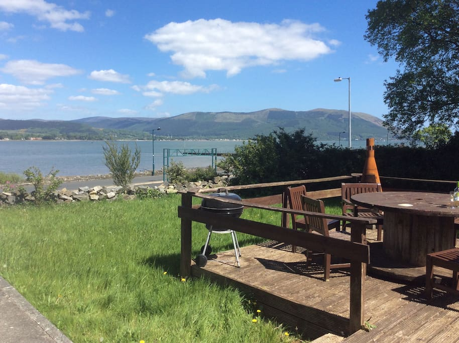Views of Carlingford lough and the Mourne Mountains