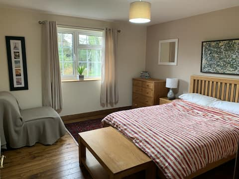 Beautiful, large double bedroom with own bathroom.