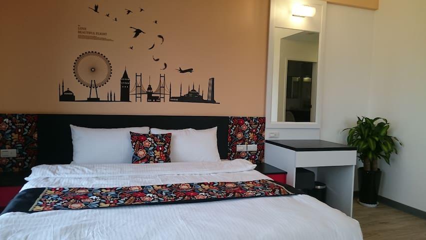 宜蘭五結 童樂匯主題式親子民宿 時尚設計雙人房