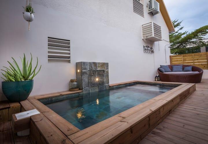 Meublé 4 * Mi aim a ou avec sa piscinelle chauffée