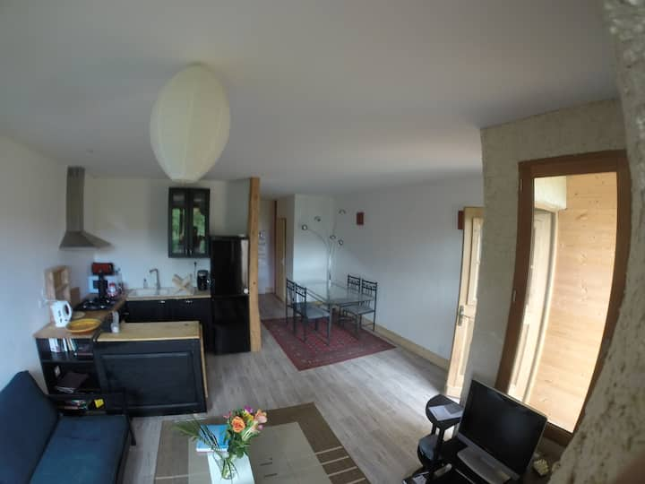 appartement, 2 chambres 65m2, vélo a disposition