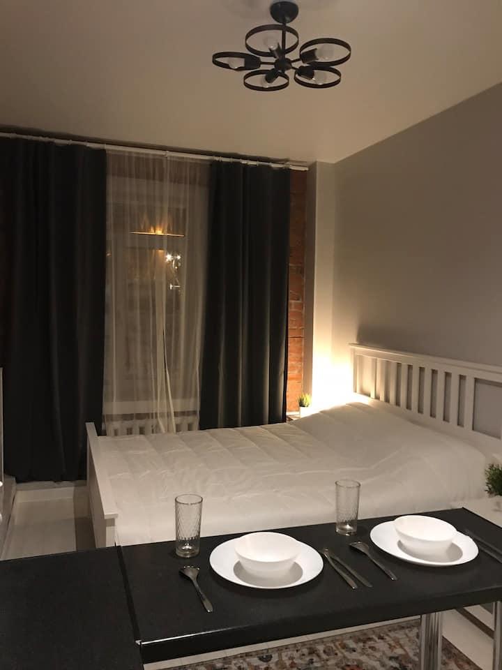 Loft Apartment/5 mins Prospekt Mira station/WiFi/2