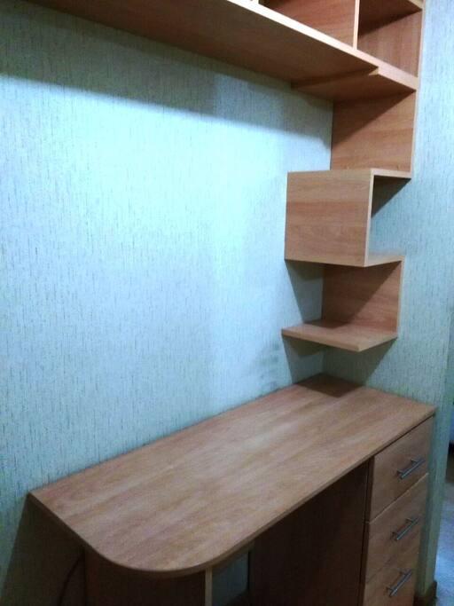 escritorio y librero