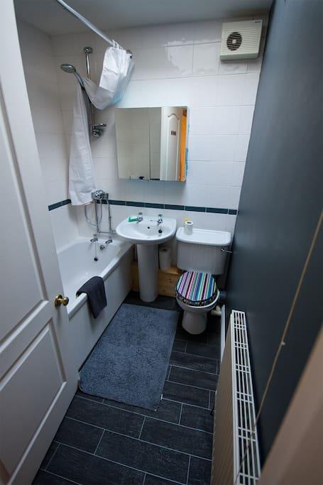 Shared bathroom/shower