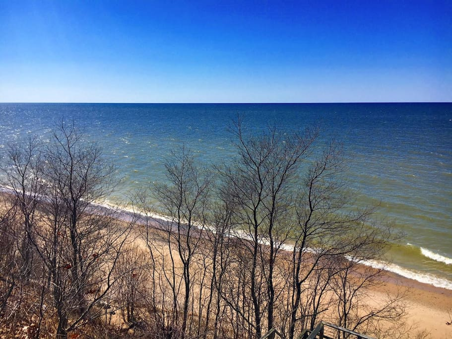 Beautiful beach in spring 2018