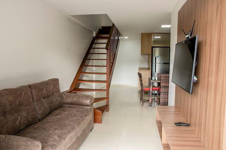 Apartamento em Cobertura duplex no centro de Guaramiranga. (610 Itaúna II)