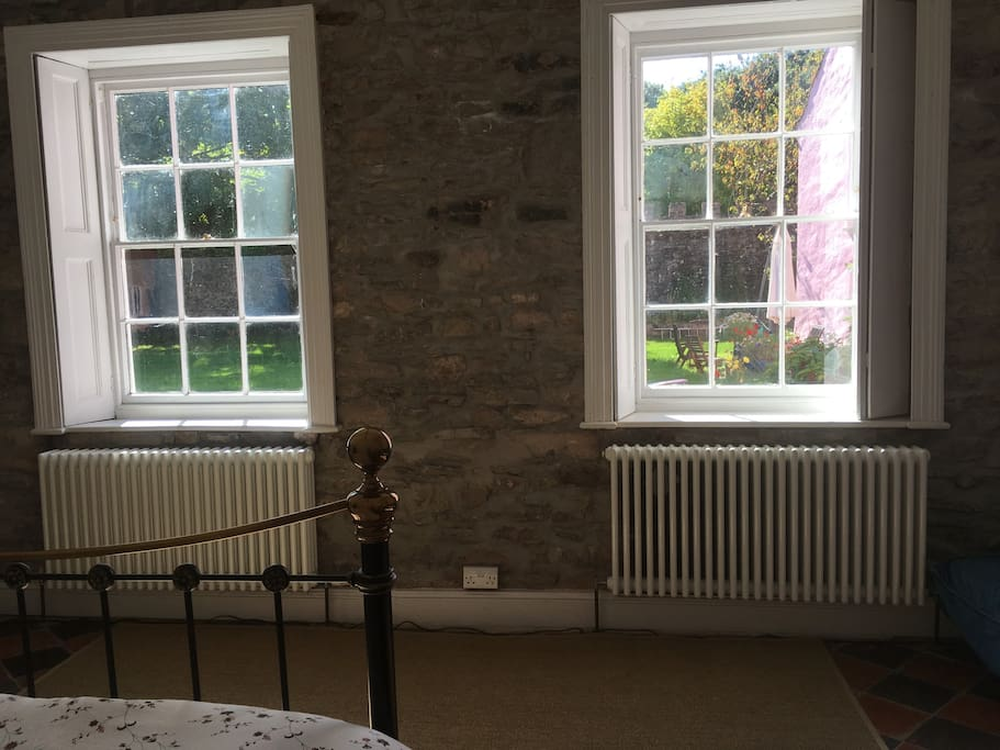 Sash windows with shutters