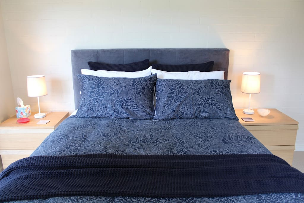 A brand new Queen sized bed, made with luxurious Sheridan linen.
