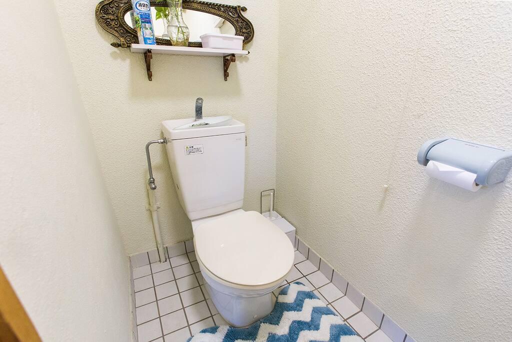 個室専用のトイレ