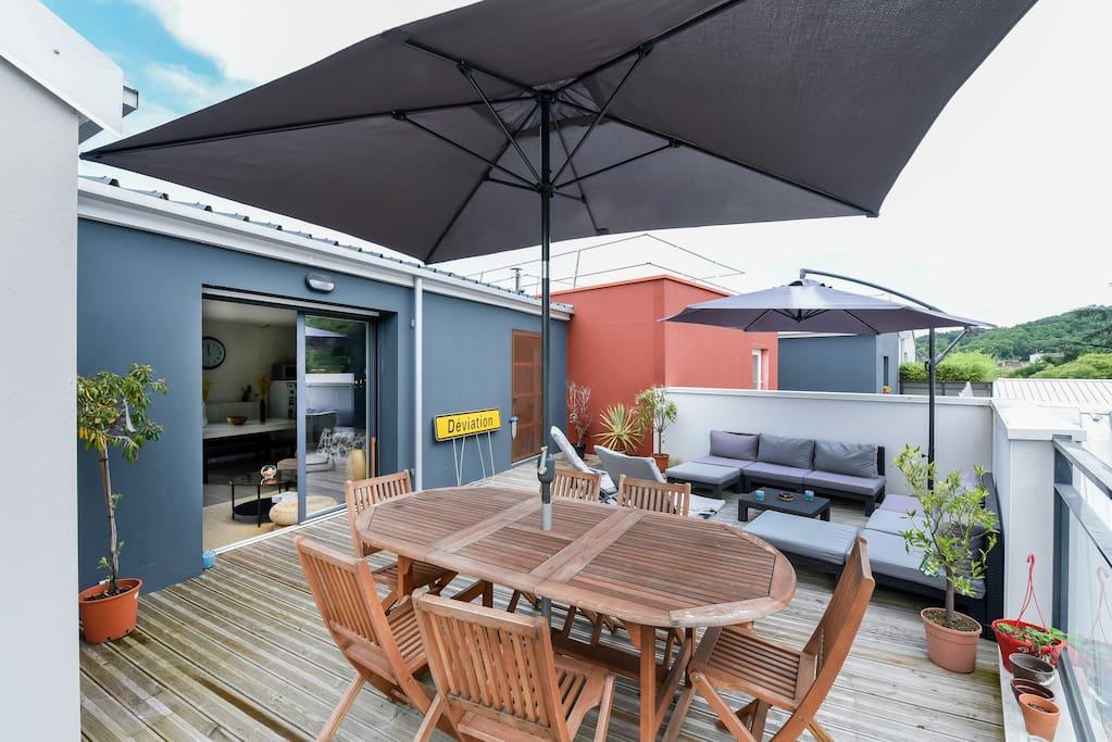 t3 double terrasses 80 m2 aux portes de bordeaux appartements louer cenon aquitaine. Black Bedroom Furniture Sets. Home Design Ideas