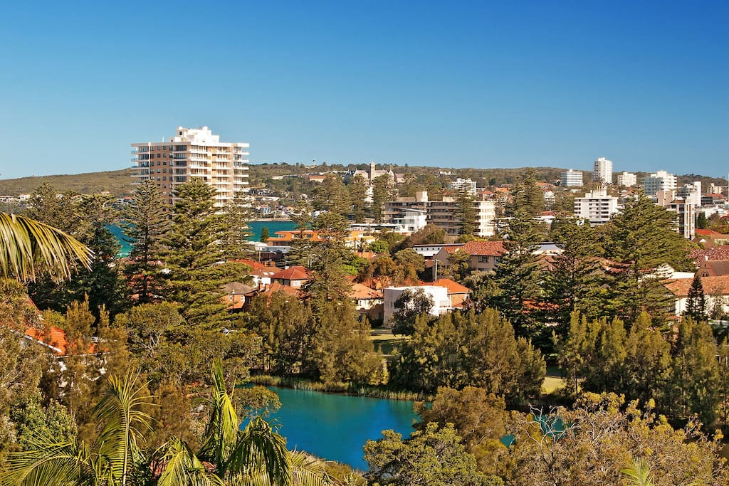 View across the lagoon and into Manly from the living area