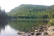 Lac rémi. Parc des 7 chutes st zénon