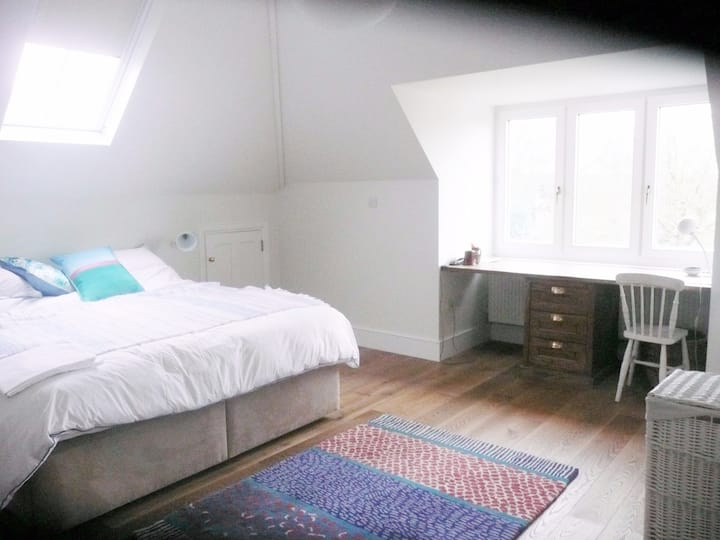 Large loft room in leafy Dulwich overlooking park