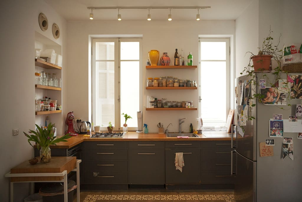 An open-spaced kitchen