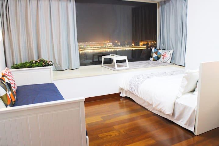 Macau·Time澳門獨立衛浴寬闊海景房|享澳門繁華&自由|近拱北關|多公交到威尼斯人|大三巴