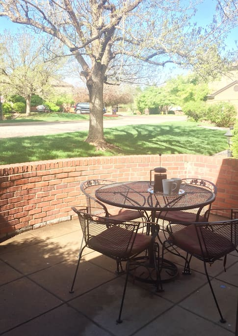 Enjoy breakfast on your private patio