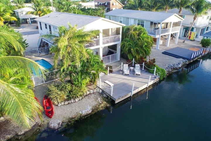 Tropical Treasures - Beautiful Canal Front Home On Cudjoe Key With Quick Open Water Access and Pool