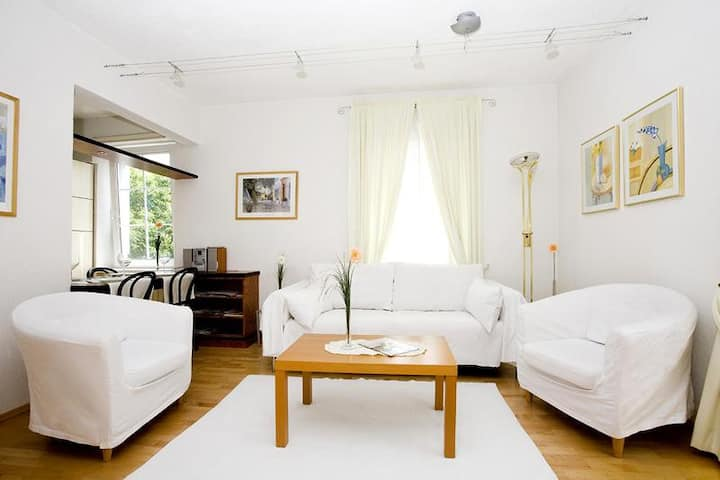 """Bright Holiday Apartment """"Ferienwohnung Bregenz 6 Top 3"""" in Central Location Close to Lake Constance with Wi-Fi, Balcony, Terrace & Garden"""