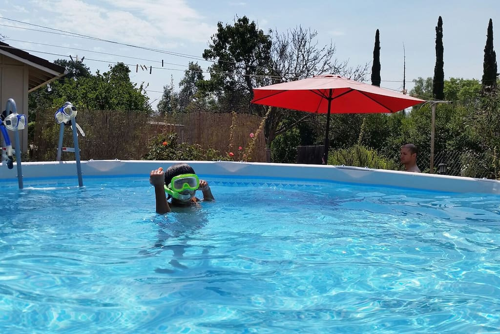 Take a dip...cool down in our pool...