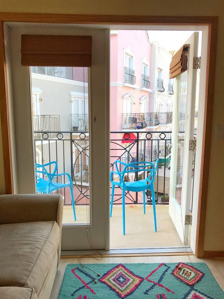 A3 European Village Suite with a View Near Beach
