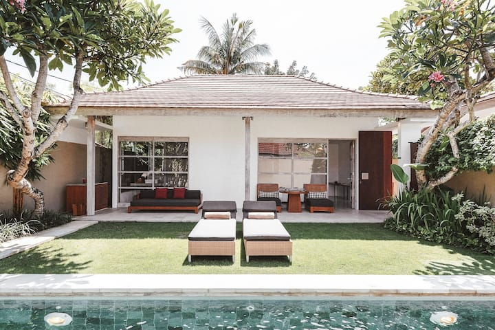 Seminyak Villa with Sunny Lawn and Private Pool