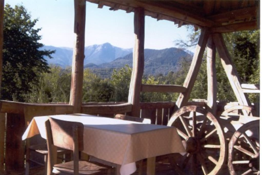 The Balkan mountains from the south from the barn/dining area.