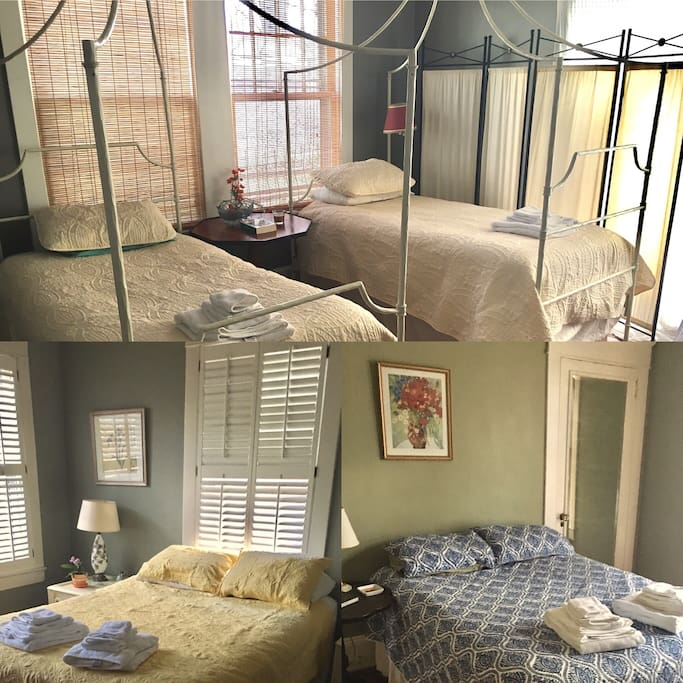 The 3 main beds between 3 rooms!