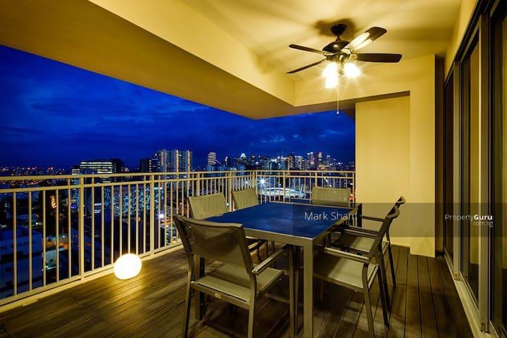 2mins MRT/City/25th flor/Great View/Quiet - Singapur