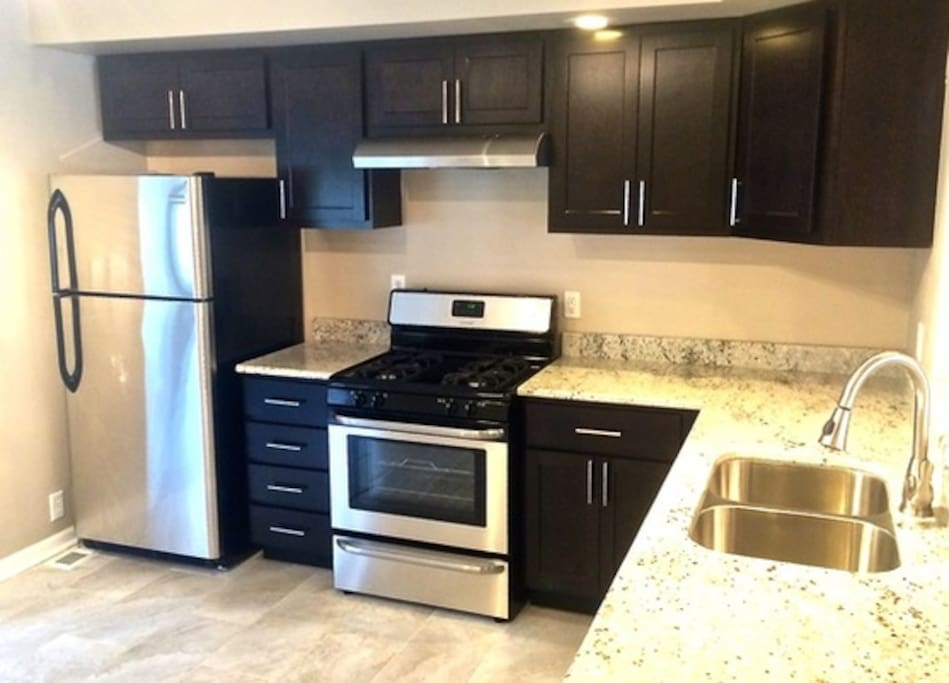 recently renovated, stainless steel appliances