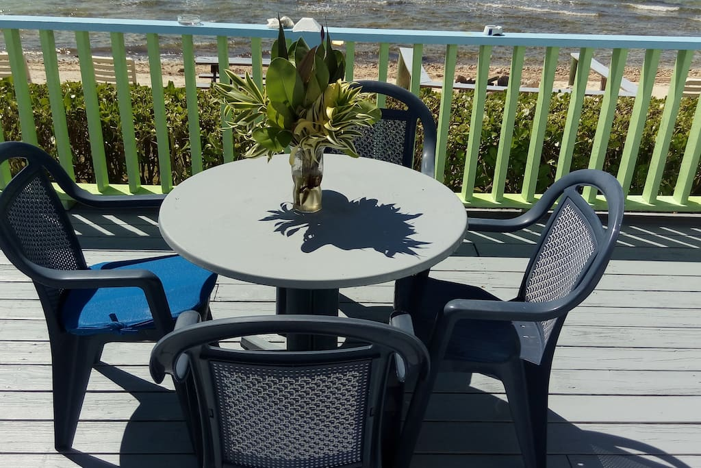front deck by the beach
