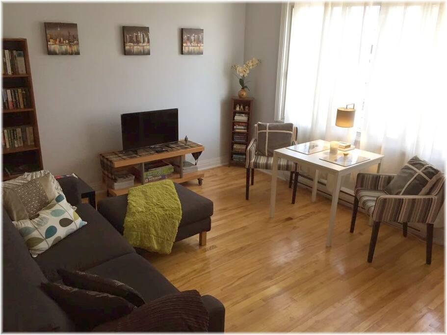 Very Bright, Spacious, Cozy Living room