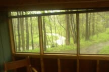 View of creek from screen room