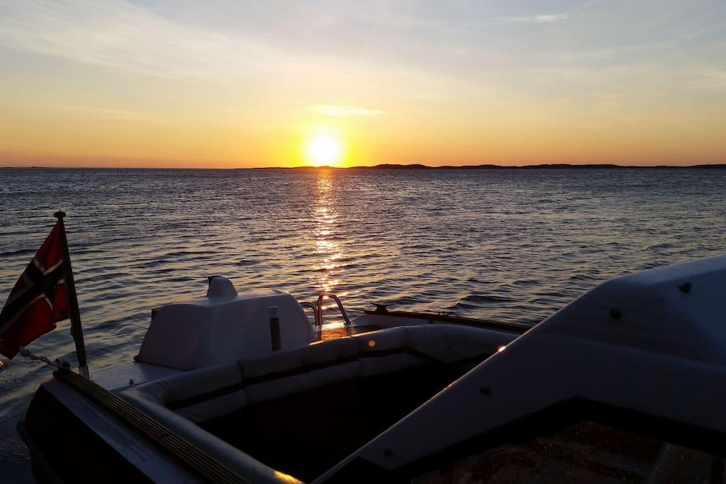 Mulighet for å leie båt. Nydelig skjærgård