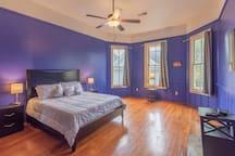 Bedroom 1 with Queen Bed, Flat Screen TV and ensuite bathroom