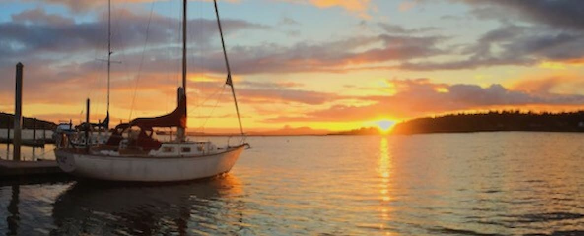 Lopez sunsets on a yacht!   Row/Paddle/Kayak/Sail - Lopez Island - Boat