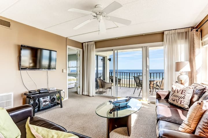 Amelia South A4: Corner oceanfront unit with pool and balcony.  Has been upgraded.  Walk to restaurant.