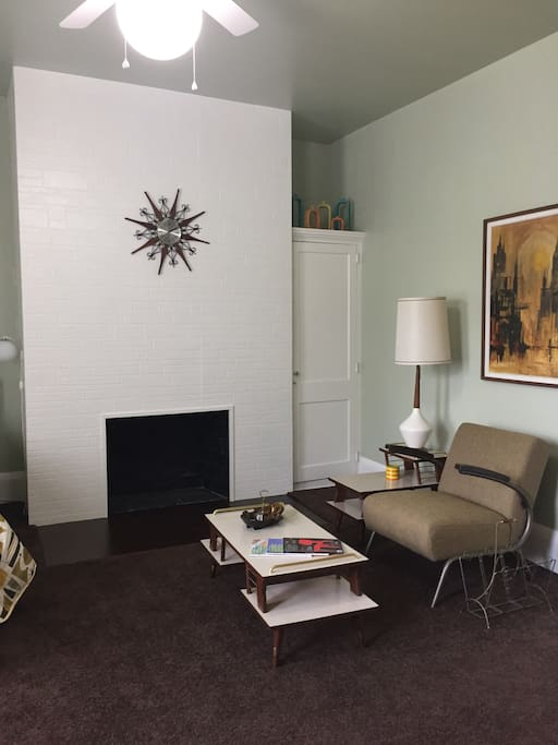 Decorative fireplace only. Small closet.