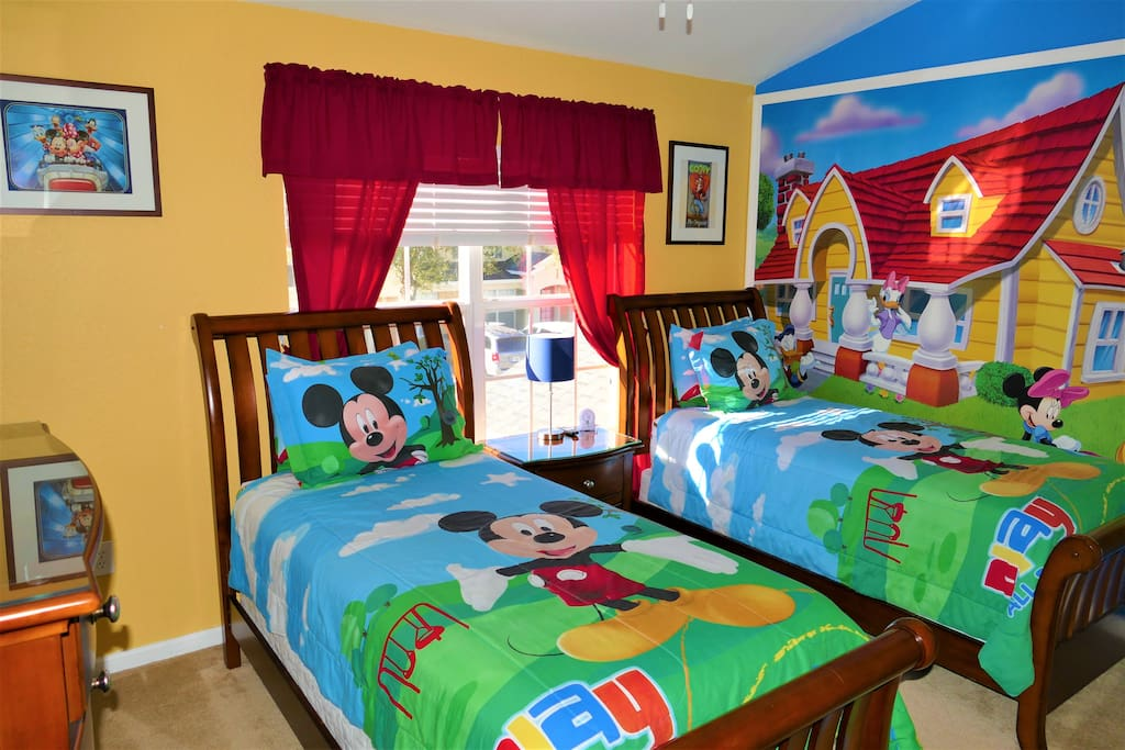 Enjoy this great Mickey themed bedroom!