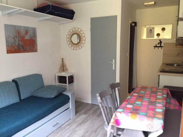 studio centre valfrejus renové calme 4 pers