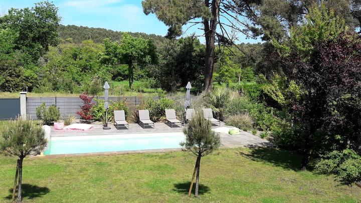 Villa standing avec piscine, WIFI, pour 15 pers