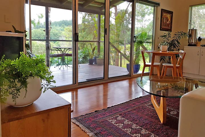 Huge sliding doors and windows to make the most of the stunning view which you can see from every part of the bungalow.