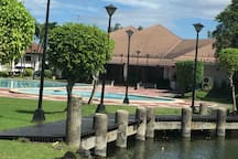 Pool in the club house located across the road fr my place There is tennis court & basketball court as well With charges