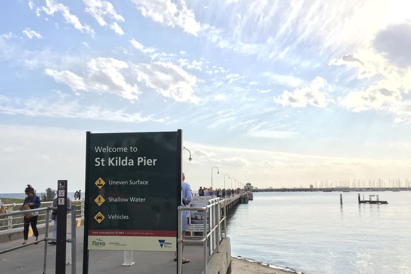 St Kilda Pier is 5 min walk away. The Penguin viewing is just steps down the pier.